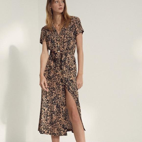 Wilfred Leopard Shirt Dress